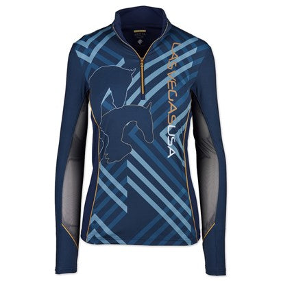World Cup Geometric Quarter Zip w/Mesh, Navy (3013) (XS & S Only)