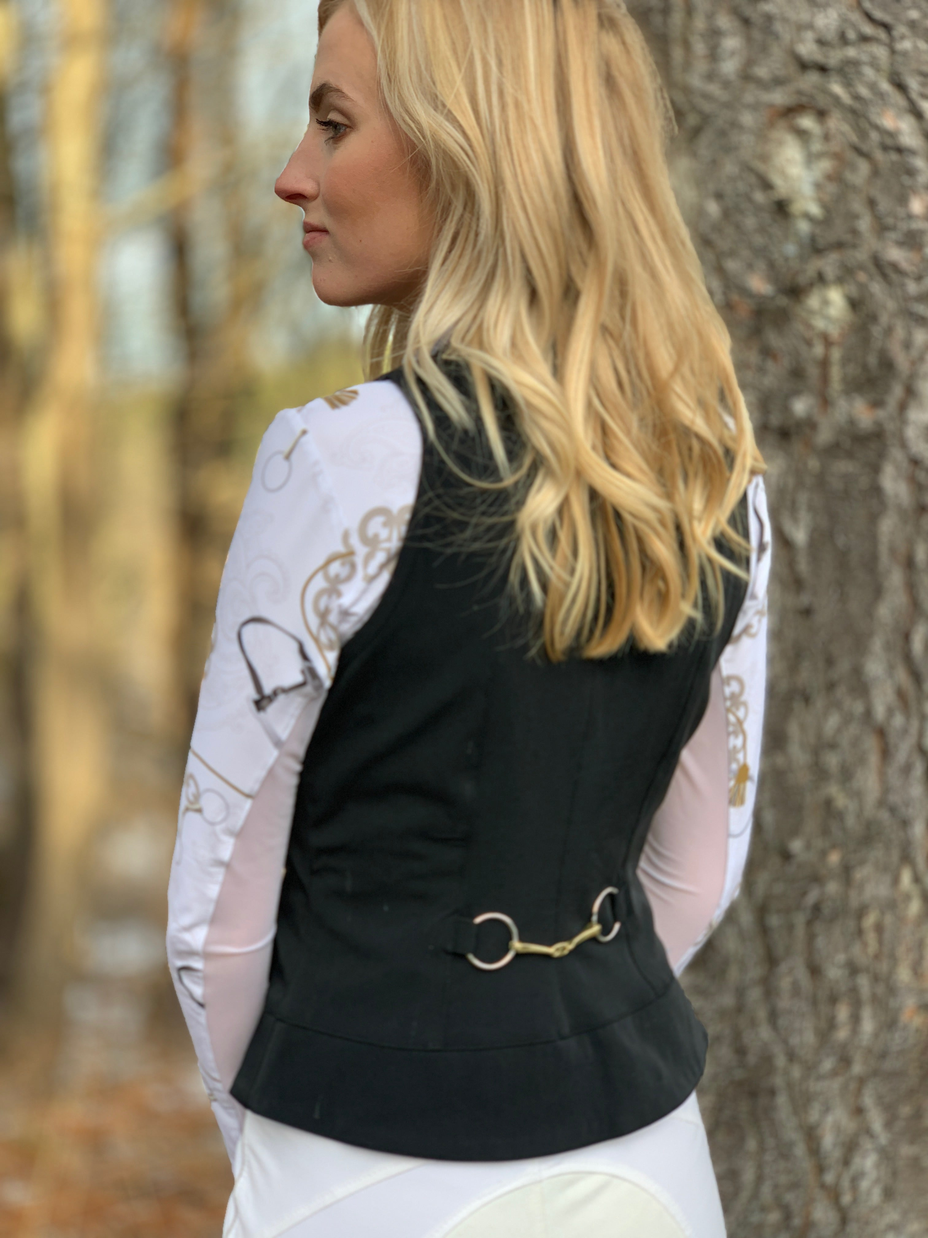 Show Vest in Black with Silver Snaps, Limited Edition (4001)