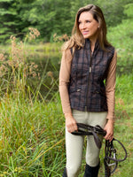 Tryon Stretch Vest in Copper Plaid
