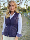 Quilted V-Vest, Blackberry