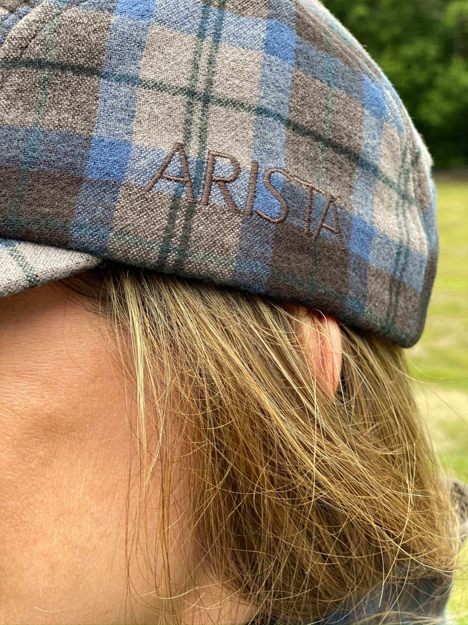 Wool Plaid Cap - Bluestone Teak