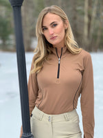 Long Sleeve Quarter Zip, Bronze