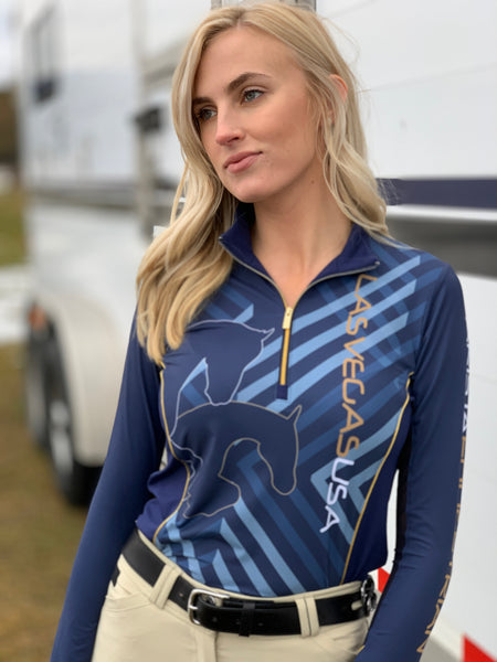 World Cup Geometric Quarter Zip, Navy