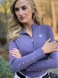 Solid Quarter Zip, Nightshade