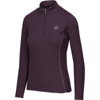 Arista Equestrian Long Sleeve Performance Quarter Zip BlackBerry