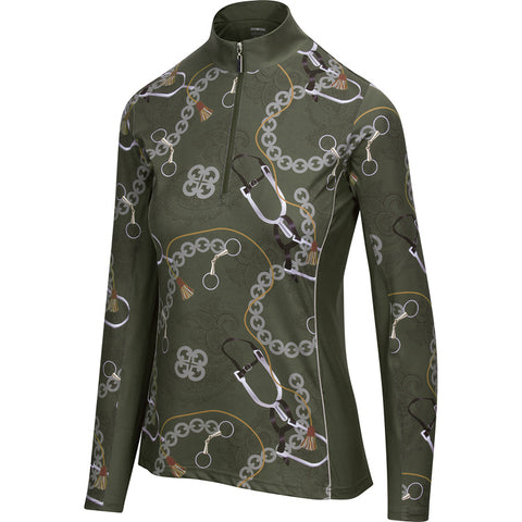 BrioTek 200 Quarter Zip Moss Spurs  (3011)