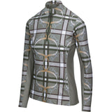 Plaid & Leathers Quarter Zip with Mesh, Moss