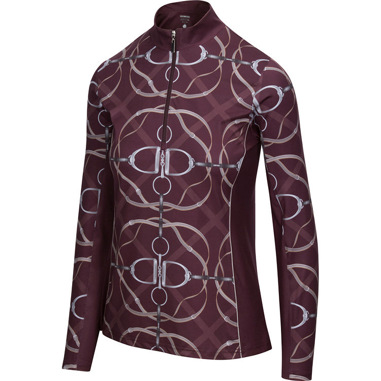 Ribbons & Reins Quarter Zip, Raisin
