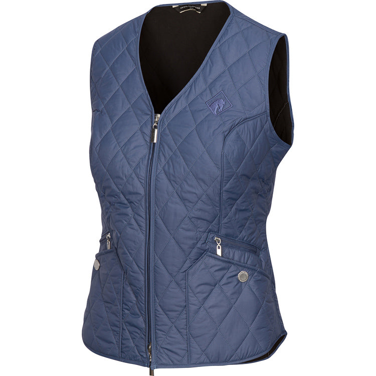 Arista Equestrian Quilted V Vest in Bluestone (4005)