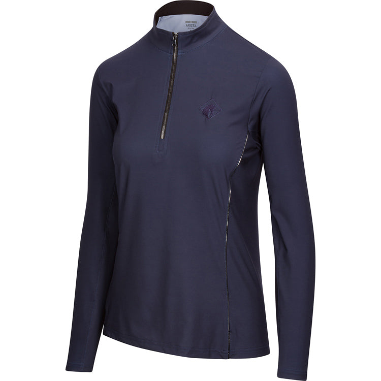 Solid Quarter Zip, Midnight