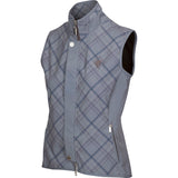 Arista Technical Flex Vest in Charcoal Plaid (Style 4012)