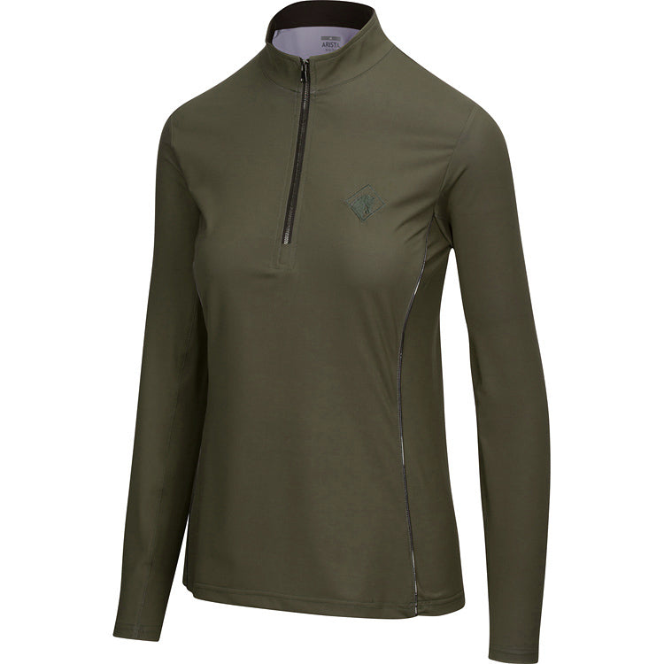 Solid Quarter Zip, Moss
