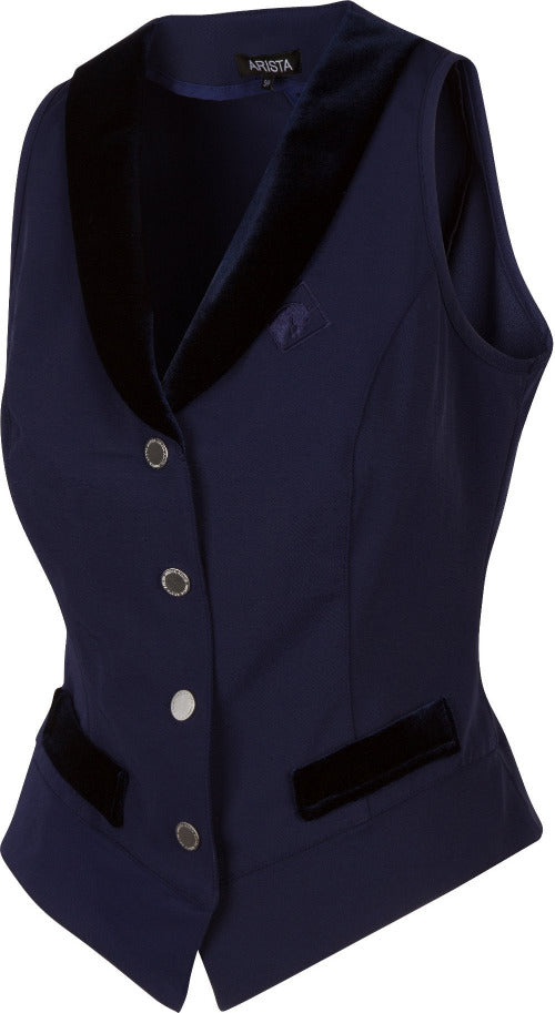 Show Vest in Navy with Silver Snaps (4001)