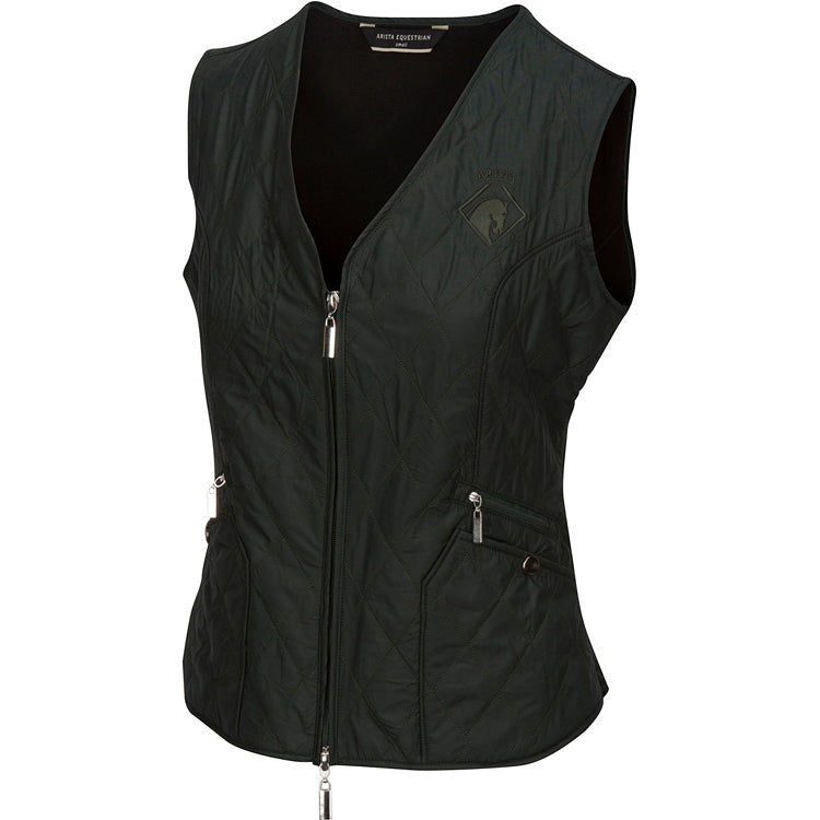 Arista Equestrian Quilted V Vest in Forest (4005)
