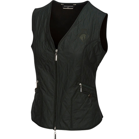 Arista Quilted V Vest in Forest (4005)