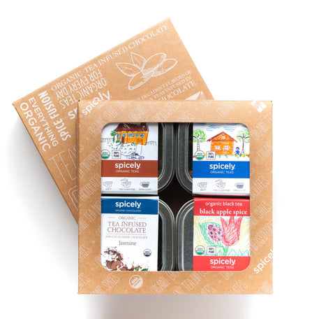 Gift Box: Black Tea & Chocolate