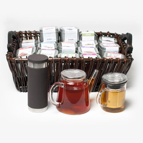 Gift Basket: Organic Tea & Chocolate