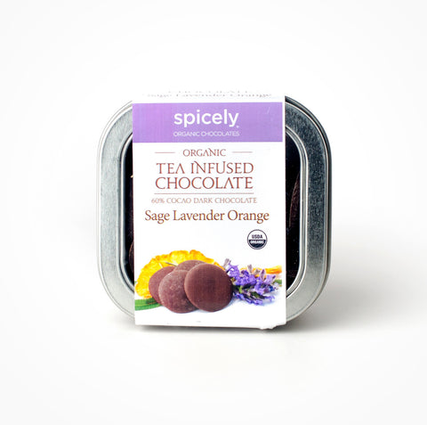 Organic Sage Lavender Orange 60% Dark Chocolate