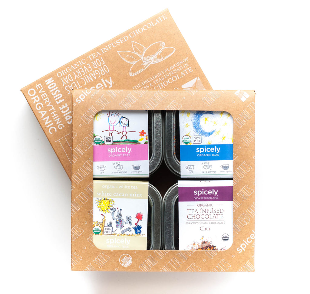 Gift Box: White Tea & Chocolate