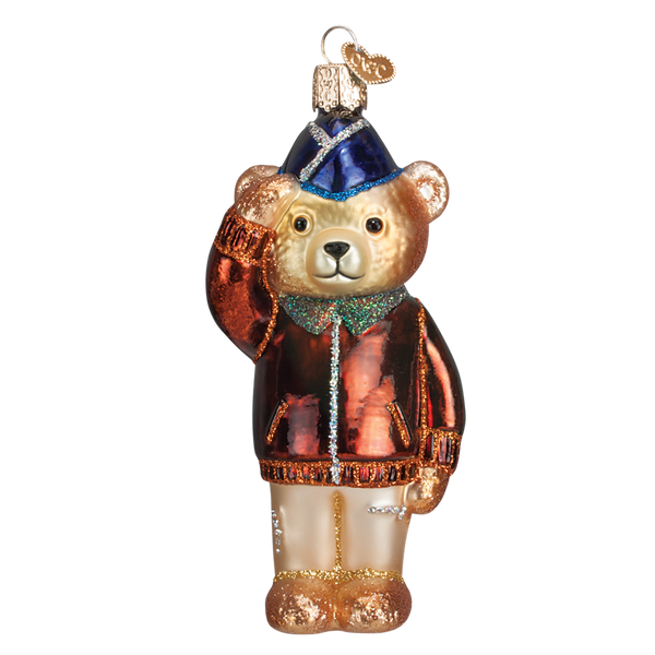 Old World Christmas Air Force Bear. (discontinued)