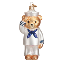 Old World Christmas Navy Bear Ornament