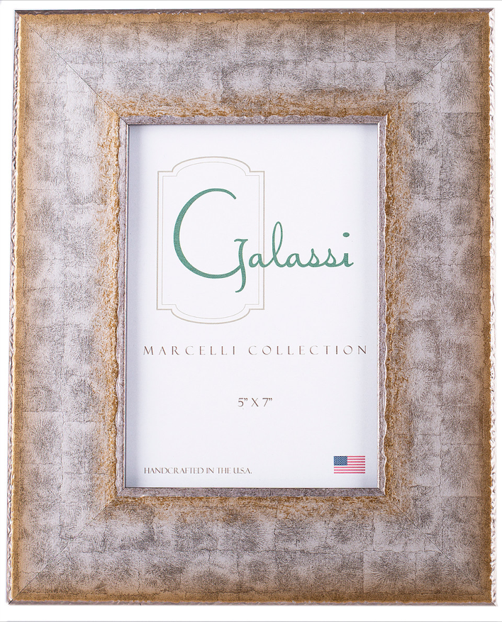 Frame Marcelli Silver Jagged Edge Wood