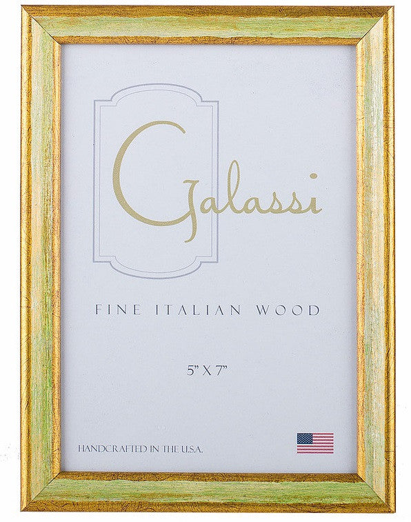 Frame Galassi Green and Gold Wood