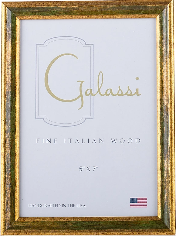 Galassi Forest Green and Gold Frame