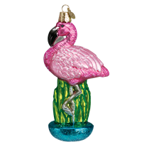 Old World Christmas Flamingo