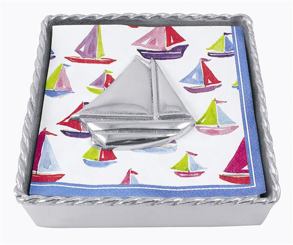 Mariposa Napkin Box Sailboat Twist