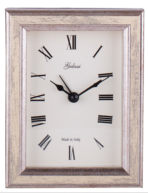 Alarm Clock Galassi Cream/Silver Wood