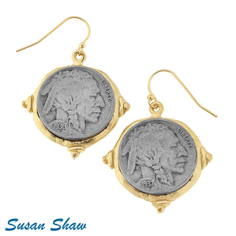 Susan Shaw  Gold/Silver Indian Wire Earring