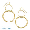 Susan Shaw Earrings Gold Large Handmade Chain