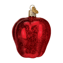 Old World Christmas Red Delicious Apple