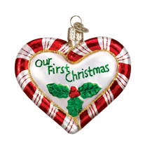 Old World Christmas Peppermint Heart