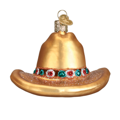 Old World Christmas Cowboy Hat