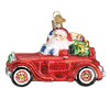 Old World Christmas Santa  in Antique Car