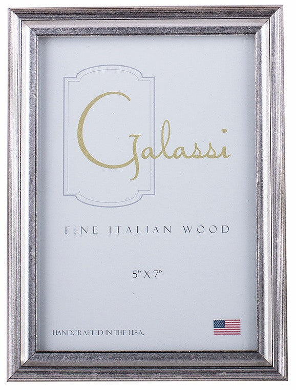 Frame Galassi Silver and Black Wood