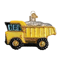 Old World Christmas Toy Dump Truck