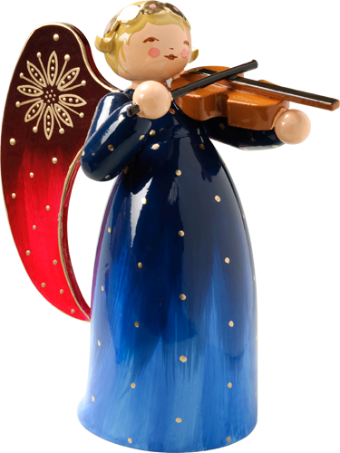 Wendt and Kuhn Handpainted Angel with Violin