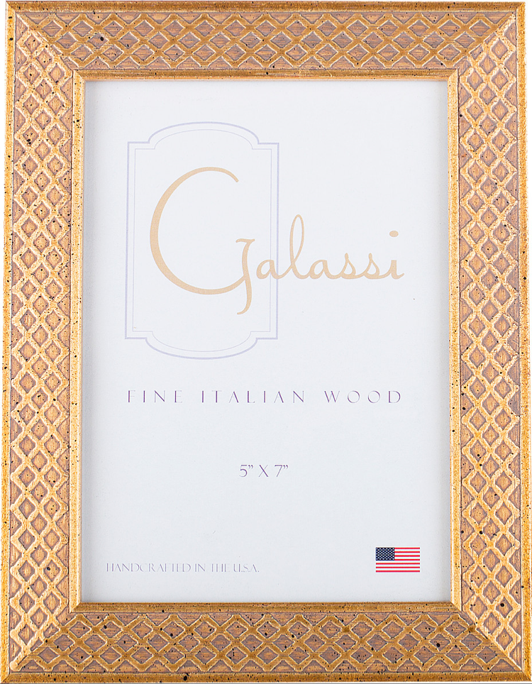 Frame Galassi Gold Lattice Wood