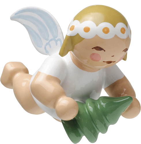 Little Suspended Angel with Little Tree (tree ornament)