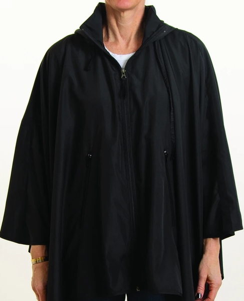 Rainrap: Sporty Rap Waterproof poncho with pouch Black
