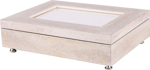 Jewelry Box White Stone