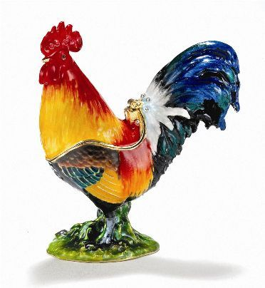 Kubla Craft Bejeweled Rooster Box