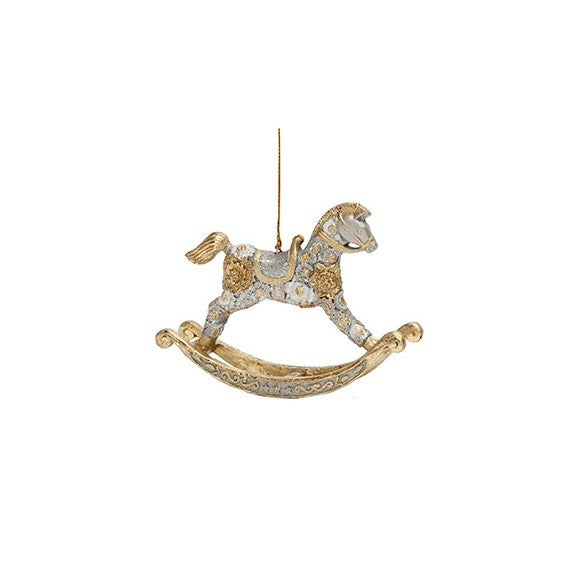 Dekorayson Floral Dream Rocking Horse Ornament (Tabletop or Tree)