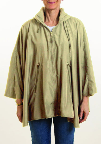 Rainrap: Sporty Rap Waterproof poncho with pouch Camel