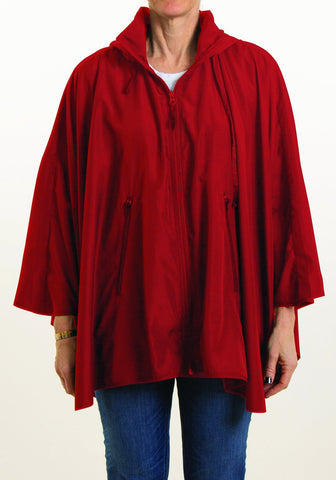 Rainrap: Sporty Rap Waterproof poncho with pouch Red