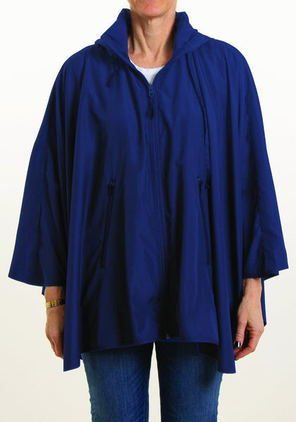 Rainrap: Sporty Rap Waterproof poncho with pouch Navy