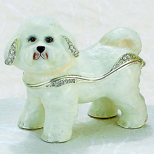 Kubla Crafts Bichon Frise Box